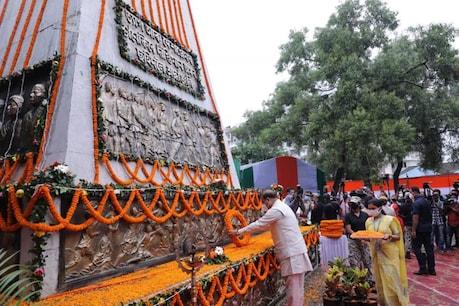 Independence Day 2021 : শ্ৰদ্ধাঞ্জলি কাননত শ্বহীদক স্মৰণ মুখ্যমন্ত্ৰী হিমন্ত বিশ্ব শৰ্মাৰ, কণমানিসকলৰ সৈতে উঠিলে চেল্ফী
