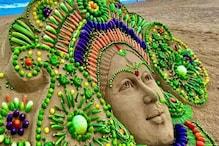 Durga Idol: গাজৰ, বেঙেনাসহ ১২ বিধ পাচলিৰে দেৱী দুৰ্গাৰ প্ৰতিমূৰ্তি ! কাণত পিন্ধোৱা হৈছে বিলাহীৰ কাণফুলি...