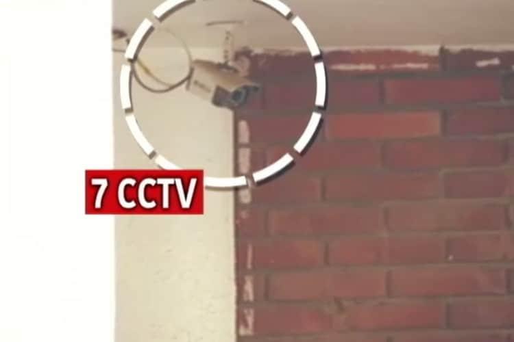 इस बिल्डिंग में 7 सीसीटीवी कैमरे मे लगे थे। ये सीसीटीवी कैमरे बिल्डिंग के चारों ओर लगाए गए थे। (फोटो- न्यूज18इंडिया)