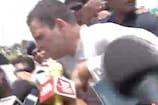 VIDEO: पुलिस से बचने के लिए राहुल गांधी ने खेतों में लगाई दौड़