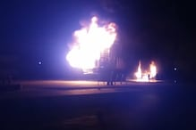 VIDEO: कैमिकल से भरे ट्रक में लगी आग