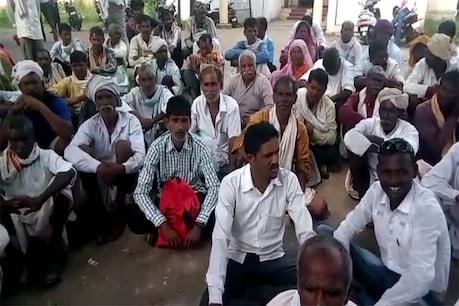 सिवनी में प्रधानमंत्री फसल बीमा की तारीख बढ़ाने के लिए किसानों ने किया प्रदर्शन