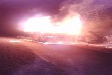 VIDEO : आग के गोले में बदली चलती बस, बच्ची और महिला की मौत