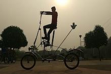 गिनीज बुक में नाम दर्ज कराने की चाह में बनाई सबसे ऊंची साइकिल!