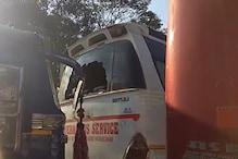 बसों में तोड़फोड़ करने के आरोप में 6 गिरफ्तार, दो घंटे बाधित रहा ट्रैफिक