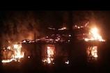 VIDEO: चतरा में एक घर में लगी आग, पूरा घर जलकर हुआ खाक