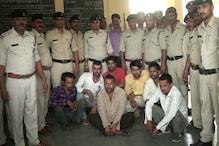 अवैध देशी कट्टे और जिंदा कारतूस सहित सात आरोपी गिरफतार, दो पर रासुका