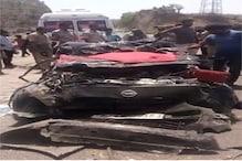 उदयपुर में अनियंत्रित ट्रोले ने जब कार और सेना के ट्रक को मारी टक्कर तो हुआ ये हाल