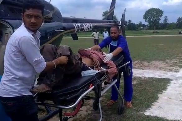 गंभीर रूप से घायलों को हेलीकॉप्टर से लाया गया था एम्स ऋषिकेश.