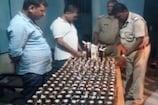 VIDEO: बालू के ढेर में छुपा कर रखी गई 332 बोतल विदेशी शराब बरामद