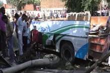 अमरोहा: बस का टायर फटने से 5 लोगों की दर्दनाक मौत, 20 घायल