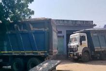 डीडवाना में बजरी से भरे 19 वाहन जब्त