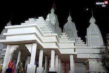 दुबई के मंदिर की तर्ज पर बना पूजा पंडाल, दूर-दूर से देखने आ रहे श्रद्धालु