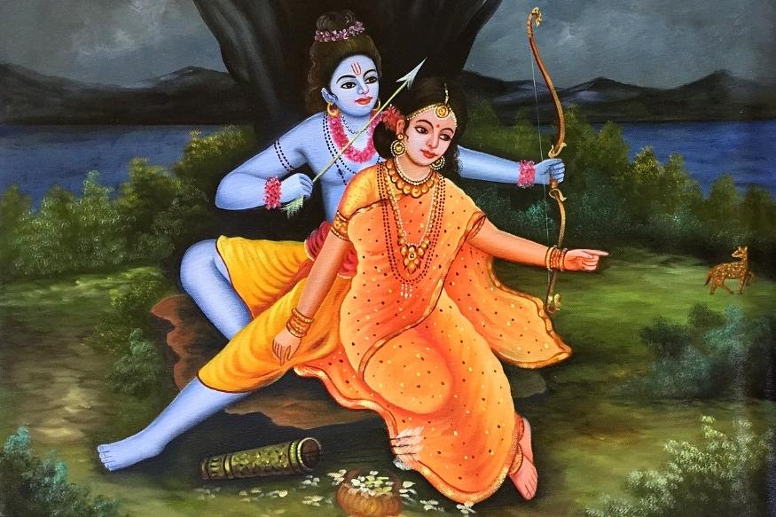 दिलचस्प है कि वाल्मीकि रामायण में सीतास्वयंवर का जिक्र नहीं है. इसमें राम और लक्ष्मण जब ऋषि विश्वामित्र के साथ मिथिला पहुंचते हैं तो विश्वामित्र राजा जनक से शिवधनु दिखाने की बात कहते हैं. राम को जब वह धनुष दिखाया जाता है तो वे उसे उठा लेते हैं और जैसे ही प्रत्यंचा चढ़ाते हैं, वह टूट जाता है. हालांकि यह बात रामायण में भी है कि जनक ने धनुष को उठाने वाले से अपनी बेटी सीता की शादी का प्रण कर रखा था और राम के ऐसा करने के बाद उन्होंने सीता की शादी राम से कर दी.