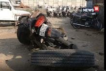 VIDEO: पुल से अचानक बाइक सवारों पर आ गिरा भारी भरकम टैंकर और फिर....