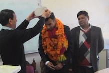 मंडी पहुंचने पर वुशु खिलाड़ी रजत शर्मा का हुआ जोरदार स्वागत
