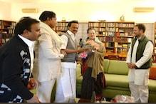 द्रमुक अध्यक्ष एम के स्टालिन ने की कांग्रेस अध्यक्ष राहुल गांधी और सोनिया से मुलाकात