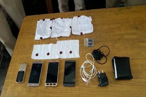 भोंडसी जेल में मोबाइल