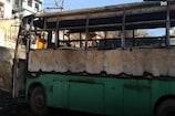 VIDEO: HRTC की सेमी डीलक्स बस में लगी आग, ड्राइवर ने छलांग लगाकर बचाई जान