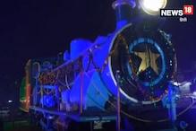 VIDEO: उज्जैन में कुलियों ने मनाया ट्रेन के इंजन का जन्मदिन, काटा केक