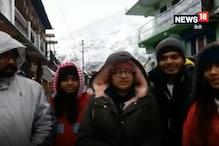 VIDEO: उत्तरकाशी के सांकरी में बर्फबारी से पर्यटकों की चहलकदमी बढ़ी