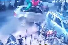 हिट एंड रन: BMW ने बाइक सवारों को ऐसे उड़ाया, देखें VIDEO