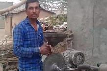 उदयपुर के गांव में चर्चा का विषय बना जुगाड़ से बना आटा चक्की प्लांट