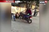 परेशान महिला ने कोर्ट में ही पति समेत ससुर को जमकर पीटा, वीडियो वायरल