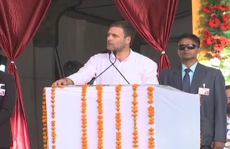 भोपाल में शुक्रवार को कांग्रेस की किसान आभार रैली हुई. इसमें पार्टी अध्यक्ष राहुल गांधी शामिल हुए.