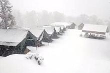 EXCLUSIVE: तस्वीरों में देखिए भारत के मिनी स्विट्जरलैंड कहे जाने वाले 'चोपता' में ताजा बर्फबारी