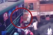 CCTV: दिल दहलाने वाला हादसा! बस और ट्रक के बीच ऐसे कुचली गई महिला