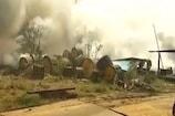 VIDEO: NTPC के स्टोर में भड़की आग, राख हुआ लाखों का सामान
