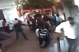 कांग्रेस नेता के घर पर जानलेवा हमला, CCTV में कैद मारपीट