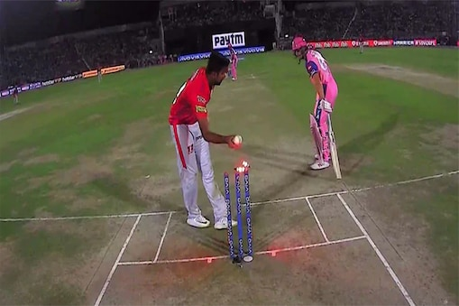 बटलर को मांकडिंग करते अश्विन (PC- IPL)