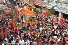 PHOTOS: गोरखपुर में अमित शाह के 'रोड शो' में बीजेपी ने दिखाया दम