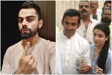 लोकसभा चुनाव 2019: विराट कोहली से लेकर गौतम गंभीर, तस्वीरों में देखिए देश के VIP वोटर्स