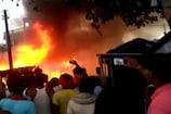 VIDEO: गांव में अचानक भड़की आग, चपेट में आया मकान