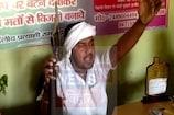 उपेंद्र कुशवाहा के समर्थन में पूर्व विधायक ने लहराया हथियार