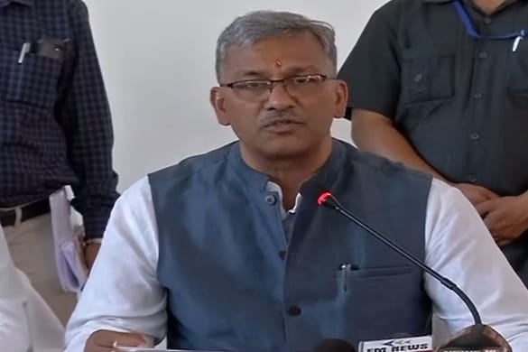 पौड़ी- सीएम त्रिवेंद्र सिंह रावत ने  14 विकास योजनाओं का शिलान्यास एवं लोकार्पण किया.