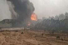 अंबाला-चंडीगढ़ रोड पर फोम फैक्ट्री में लगी भयंकर आग, दमकल की कई गाड़ियां मौके पर