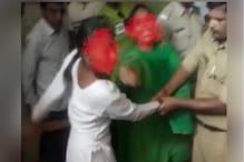 श्रीगंगानगर अस्पताल में महिला के साथ मारपीट, VIDEO वायरल