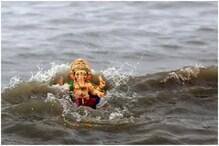 हरदा में प्रतिमा विसर्जन के लिए बना नर्मदा जल का कुंड
