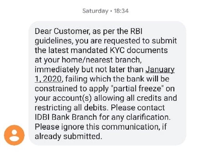 IDBI Bank KYC Documents