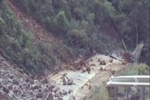 NH-707 पर 200 मीटर सड़क टूटकर गिरी नदी में गिरी, बहाल होने में 20 दिन लगेगा