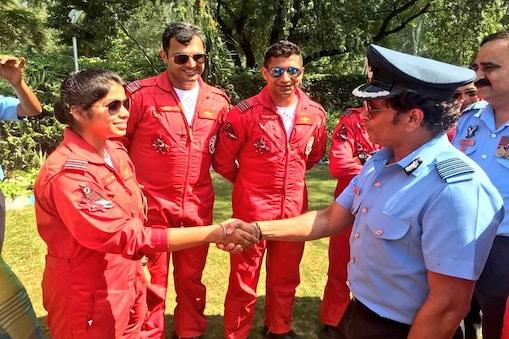 सचिन तेंदुलकर ने इसी साल फरवरी महीने में राजस्थान के पोखरण में 'वायुशक्ति 2019' कार्यक्रम में भी हिस्सा लिया था