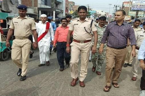 मुजफ्फफरपुर की सड़कों पर गश्त लगाते एसएसपी