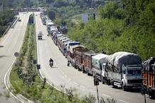 भूस्खलन के कारण जम्मू-श्रीनगर राजमार्ग दोबारा बंद, 1300 गाड़ियां फंसीं