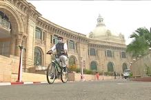 कांग्रेस MLC दीपक सिंह साइकिल से पहुंचे विधानसभा, बोले- सरकार के दावे किताबी !