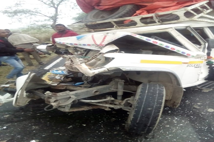 road accident, unnao, bus accident