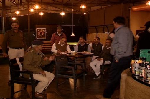 इंदौर में हुक्का बार पर छापा
